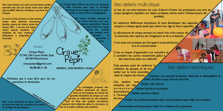 Présentation ateliers cirque